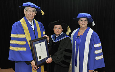2012 Honorary Degree Michael J. Fox with Jack McGee