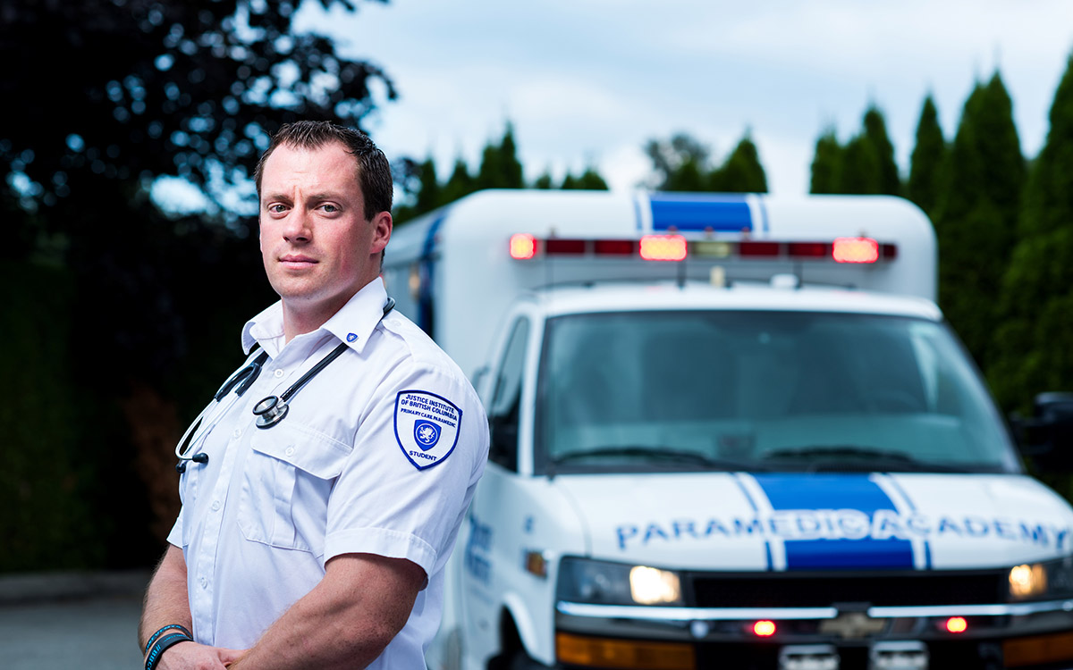 Matt Anderson is keen to be able to use his JIBC paramedic training to serve his remote Central BC community. He also hopes to eventually train others to help provide a basic level of medical care for the town's 800 residents.