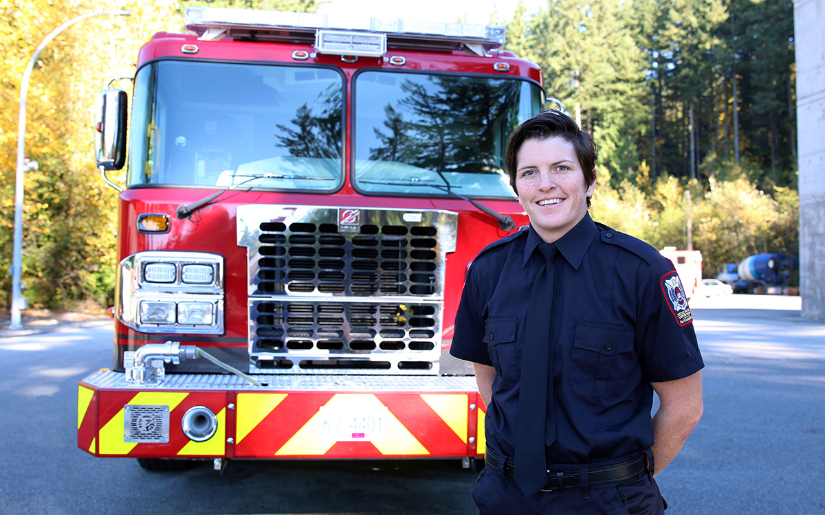 Britt Benn won a bronze medal in women's rugby at the 2016 Olympic Games. Now she's enrolled in JIBC's Fire Fighting Technologies Certificate program as she pursues her career goal of finding another team to join, this time as a firefighter.