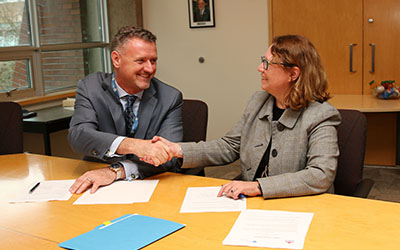 Michel Tarko and Barbara Fleury-LOA signing with Canadian Police College