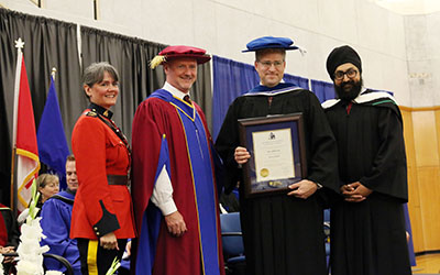 Bill Fordy - honorary degree recipient