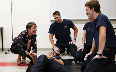Minister Mark meets paramedic students