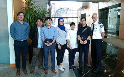 Singapore students with Leon Baranowski and Joe Joe Acker, BCEHS Provincial Health Services Authority f