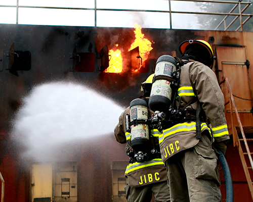 JIBC Fire Students