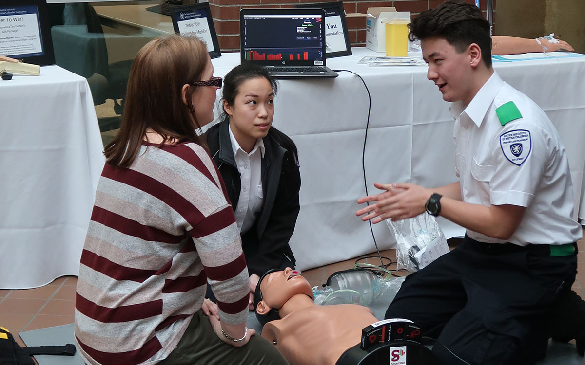 Attendees at the Donor Appreciation Event gained hands-on experience on donor supported equipment including a new SmartMan ALS Airway CPR Pro manikin.