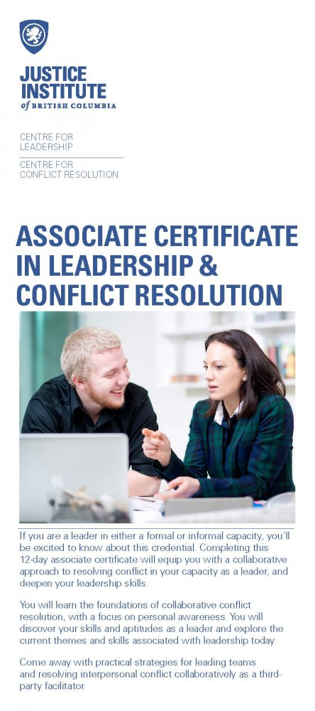Associate Certificate in Leadership & Conflict Resolution