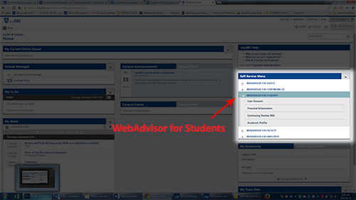 myJIBC WebAdvisor for Students