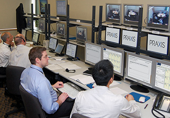 Praxis control room