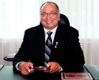 The Honourable Steven L. Point, OBC, LLD (Hon.), former Lieutenant Governor