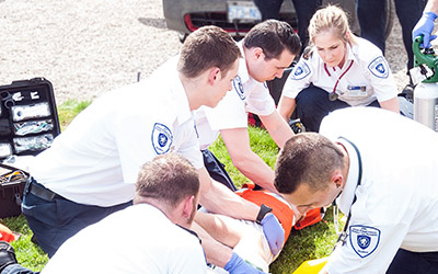 JIBC Paramedic Academy engaged in a training simulation