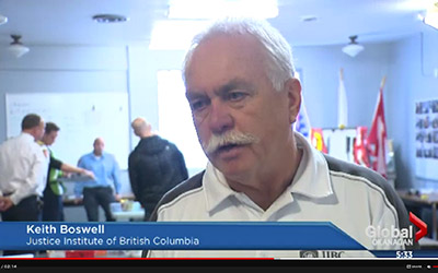 JIBC instructor Keith Boswell on Global News BC