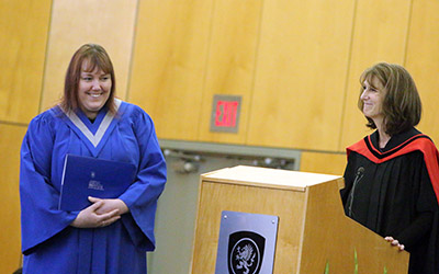Tammy Hull receives her Community Care Licensing Officer Advanced Specialty Certificate at JIBC's 2015 Winter Convocation