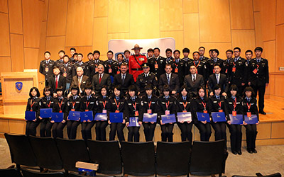 Commemorative photo of Chinese students at JIBC in February 2015