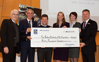 RBC Cheque Presentation at 2015 Donor Appreciation Event