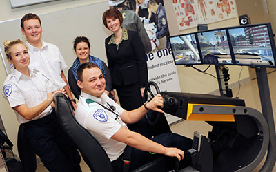 New Driving Simuilator Donation to Paramedic Academy by MONCAR Simulators