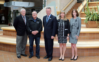 Jim McGregor, Ralph Goodale, Michel Tarko, Colleen Vaughan, Barb Kidd