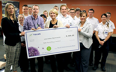 June 2016 - TELUS Victoria Community Board grant for paramedic training equipment at the Victoria Campus