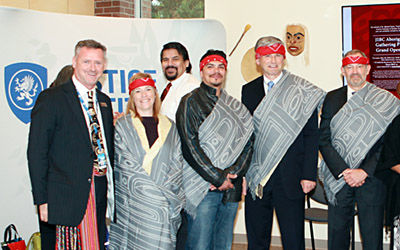 Aboriginal Gathering Place Opening Witnesses with President Tarko