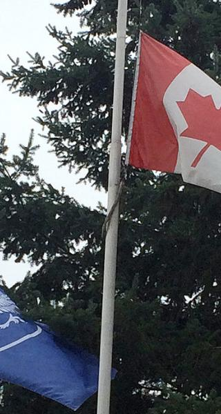 JIBC flags at half-mast