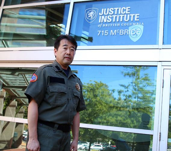 Hitoshi Igarashi recently completed course work in New Westminster as part of JIBC's Emergency Management Certificate program. He hopes to adopt elements of the North American system of disaster response in Japan and other countries that he works with through the Community Emergency Management Institute of Japan.