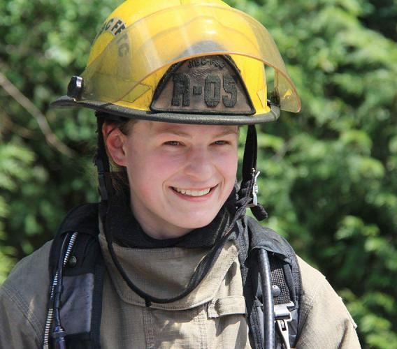 A year after completing the Fire Fighting Technologies Certificate program at JIBC, Ashley Long was promoted to a career firefighter position with a local fire department.