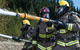 JIBC firefighter training
