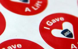 JIBC Giving Tuesday stickers