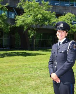 Const. Nichols is a JIBC grad who is now an officer with Saanich Police.