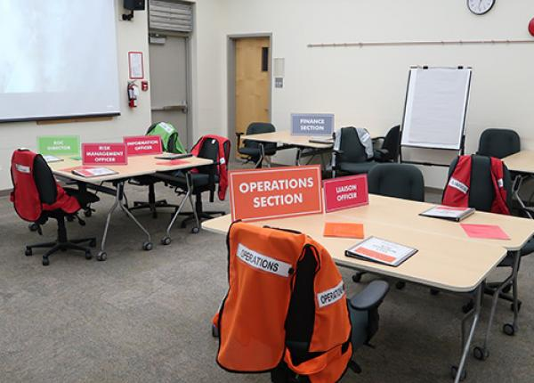 JIBC Emergency Operations Centre training room