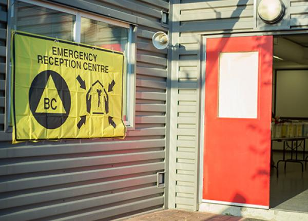 Emergency Reception Centre entrance