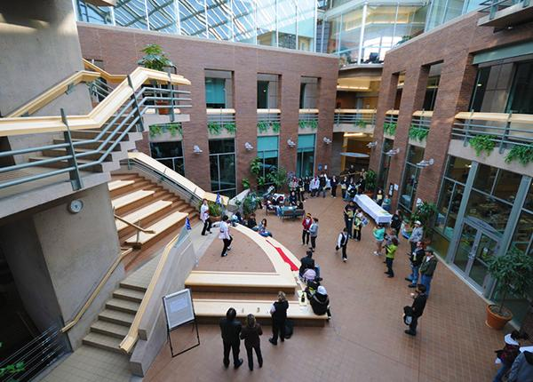 JIBC atrium at the New Westminster campus